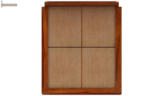 Carden Low Floor Platform Bed (King Size, Honey Finish)-9