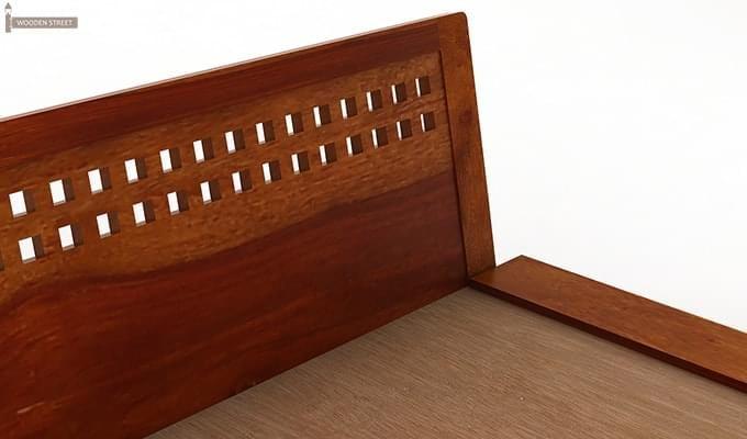 Carden Low Floor Platform Bed (King Size, Honey Finish)-7
