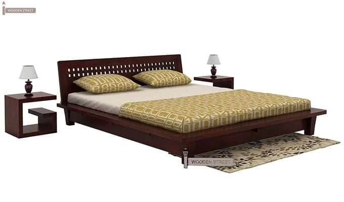 Carden Low Floor Platform Bed (King Size, Mahogany Finish)-1
