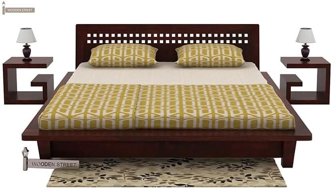Carden Low Floor Platform Bed (King Size, Mahogany Finish)-2