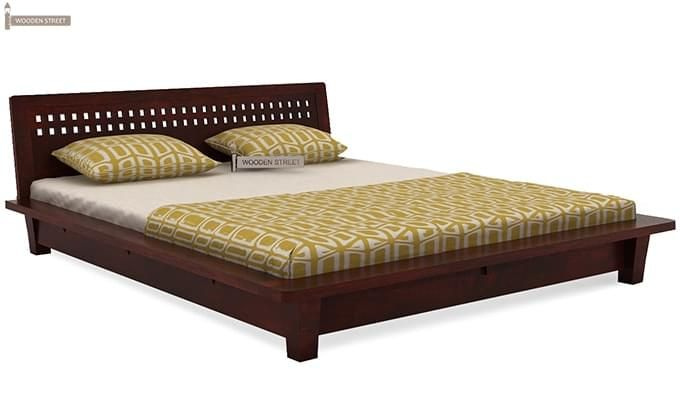 Carden Low Floor Platform Bed (King Size, Mahogany Finish)-4