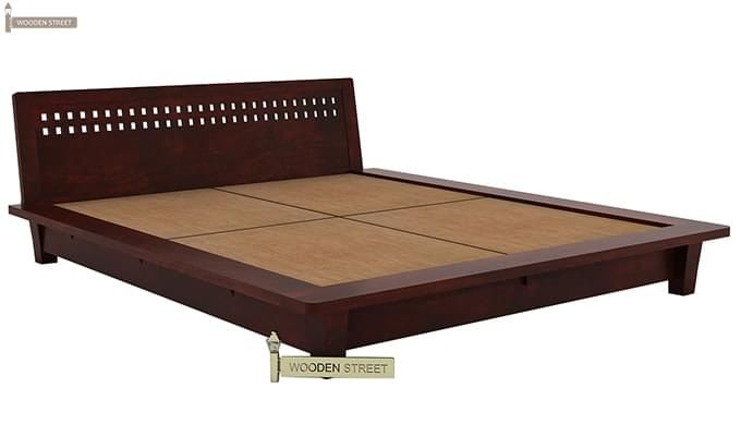 Carden Low Floor Platform Bed (King Size, Mahogany Finish)-5