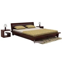 Carden Low Floor Platform Bed (King Size, Mahogany Finish)