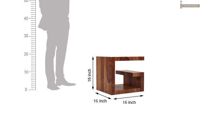 Carden Bedside Table (Teak Finish)-5