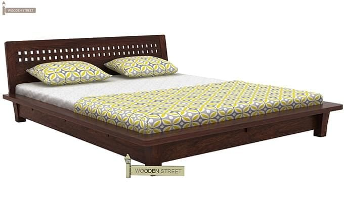Carden Low Floor Platform Bed (Queen Size, Walnut Finish)-4