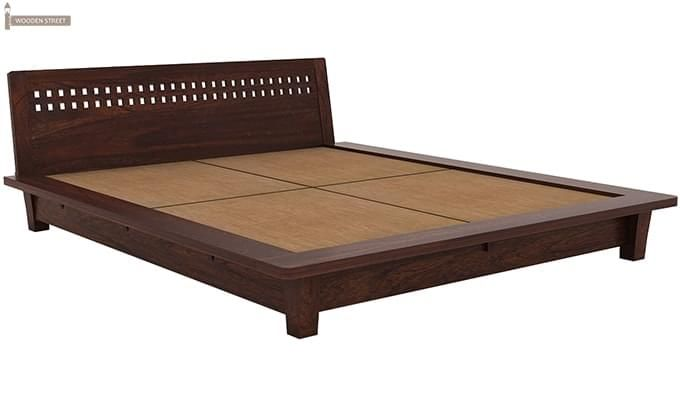 Carden Low Floor Platform Bed (King Size, Walnut Finish)-5