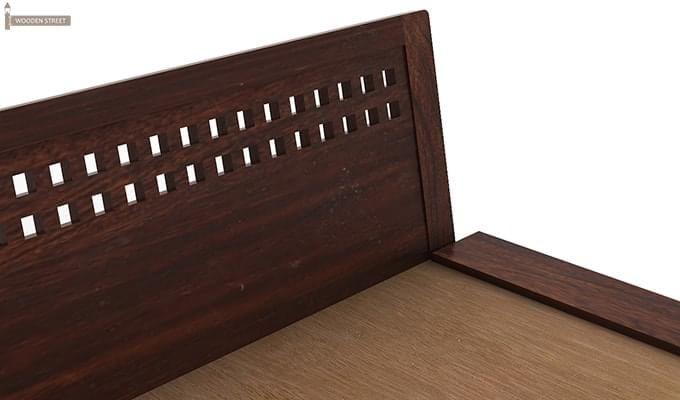 Carden Low Floor Platform Bed (Queen Size, Walnut Finish)-6