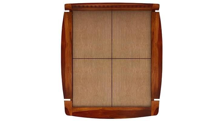 Carden Designed Low Floor Platform Bed (Queen Size, Honey Finish)-6