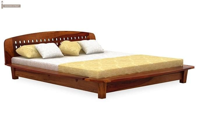 Carden Designed Low Floor Platform Bed (King Size, Honey Finish)-2