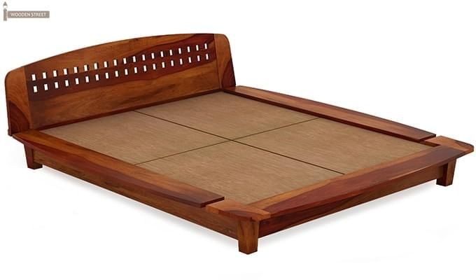 Carden Designed Low Floor Platform Bed (Queen Size, Honey Finish)-3