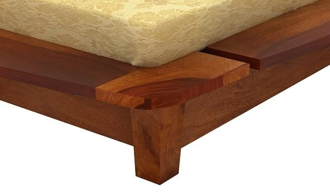 Carden Designed Low Floor Platform Bed (Queen Size, Honey Finish)-5
