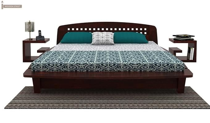 Carden Designed Low Floor Platform Bed (King Size, Mahogany Finish)-1
