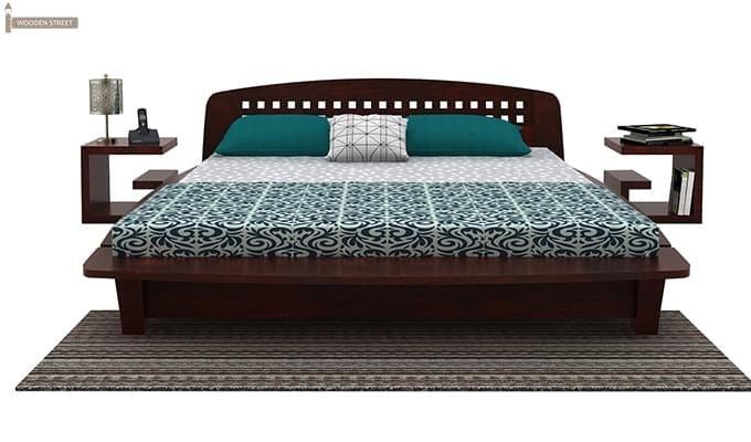 Carden Designed Low Floor Platform Bed (Queen Size, Mahogany Finish)-2