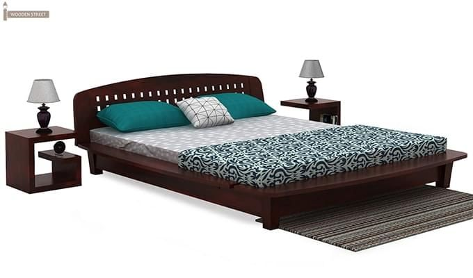 Carden Designed Low Floor Platform Bed (King Size, Mahogany Finish)-3