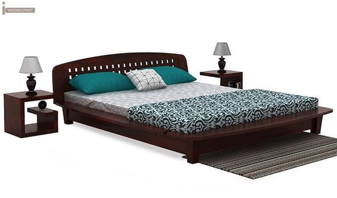 Carden Designed Low Floor Platform Bed (Queen Size, Mahogany Finish)-3