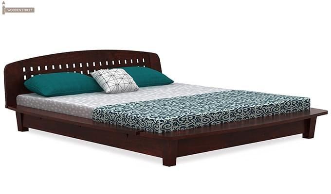 Carden Designed Low Floor Platform Bed (Queen Size, Mahogany Finish)-4