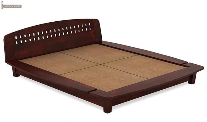 Carden Designed Low Floor Platform Bed (Queen Size, Mahogany Finish)-5