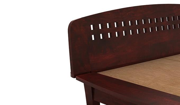 Carden Designed Low Floor Platform Bed (Queen Size, Mahogany Finish)-7
