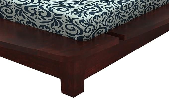 Carden Designed Low Floor Platform Bed (King Size, Mahogany Finish)-7
