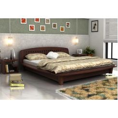Carden Designed Low Floor Platform Bed (Queen Size, Walnut Finish)