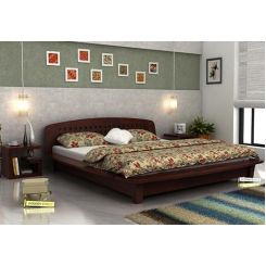 Carden Designed Low Floor Platform Bed (King Size, Mahogany Finish)