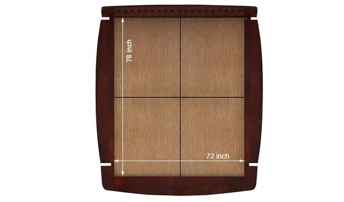 Carden Designed Low Floor Platform Bed (King Size, Mahogany Finish)-8