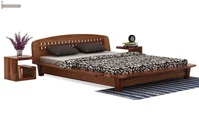 Carden Designed Low Floor Platform Bed (Queen Size, Teak Finish)-2