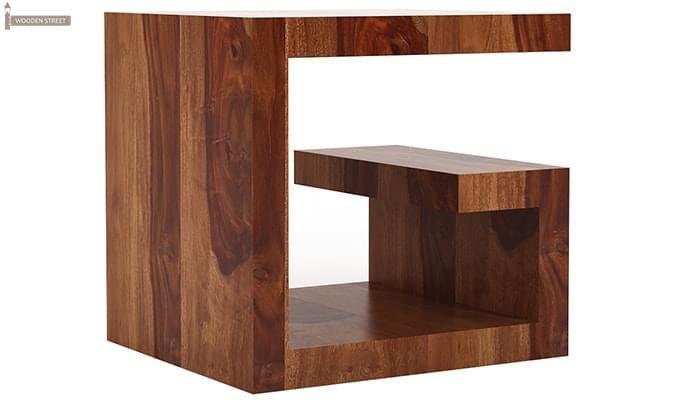 Carden Bedside Table (Teak Finish)-4