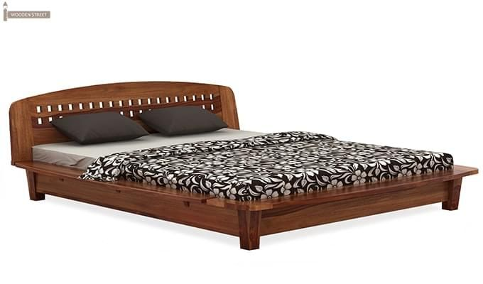 Carden Designed Low Floor Platform Bed (Queen Size, Teak Finish)-4