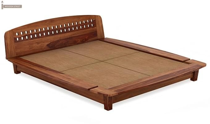 Carden Designed Low Floor Platform Bed (King Size, Teak Finish)-6