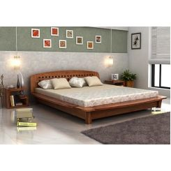 Carden Designed Low Floor Platform Bed (Queen Size, Teak Finish)