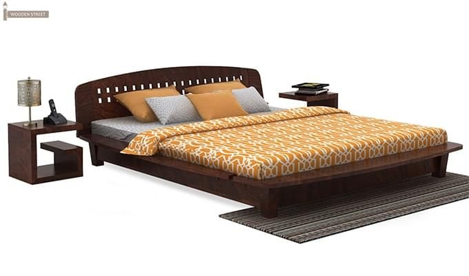 Carden Designed Low Floor Platform Bed (Queen Size, Walnut Finish)-1