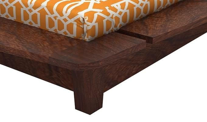 Carden Designed Low Floor Platform Bed (Queen Size, Walnut Finish)-8