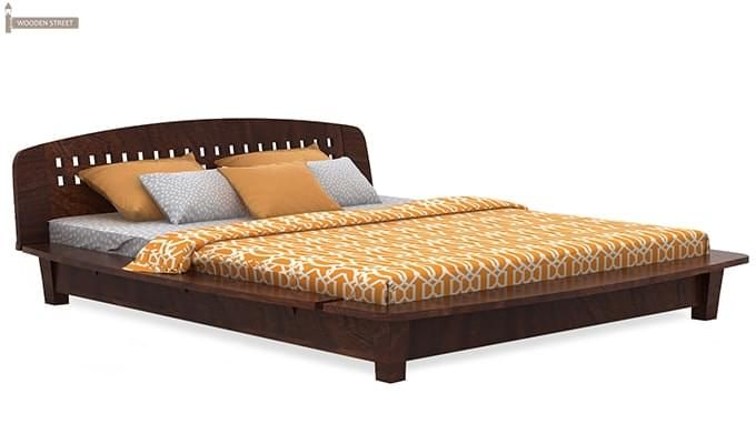 Carden Designed Low Floor Platform Bed (Queen Size, Walnut Finish)-4