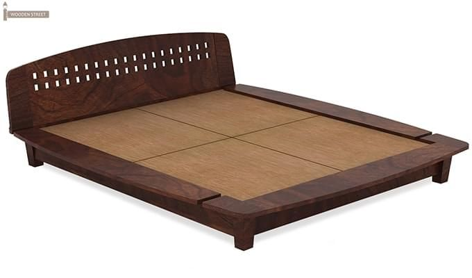 Carden Designed Low Floor Platform Bed (Queen Size, Walnut Finish)-5