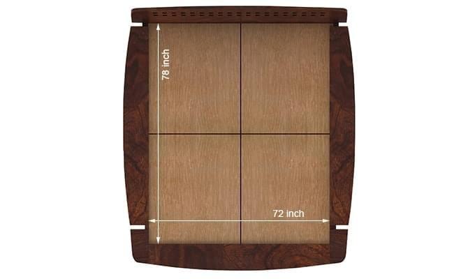 Carden Designed Low Floor Platform Bed (King Size, Walnut Finish)-8