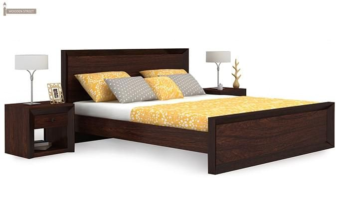 Carvel Bed Without Storage (King Size, Walnut Finish)-2
