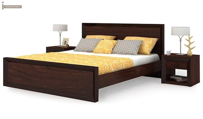 Carvel Bed Without Storage (King Size, Walnut Finish)-3