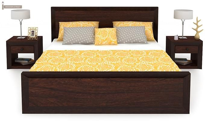Carvel Bed Without Storage (King Size, Walnut Finish)-4