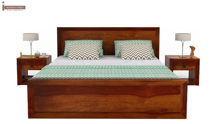 Carvel Bed Without Storage (King Size, Honey Finish)-2