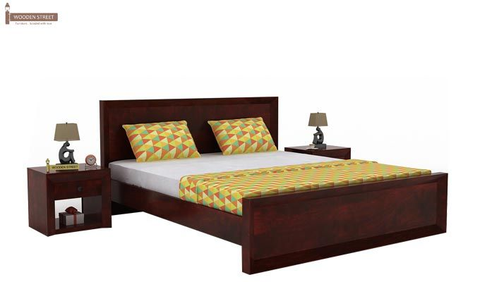Carvel Bed Without Storage (King Size, Mahogany Finish)-1