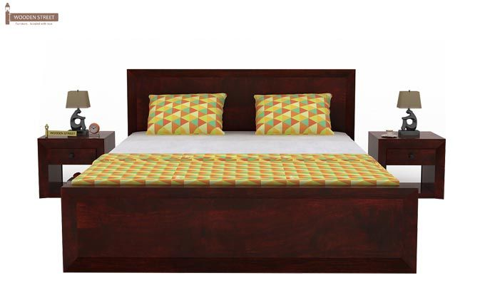 Carvel Bed Without Storage (King Size, Mahogany Finish)-2