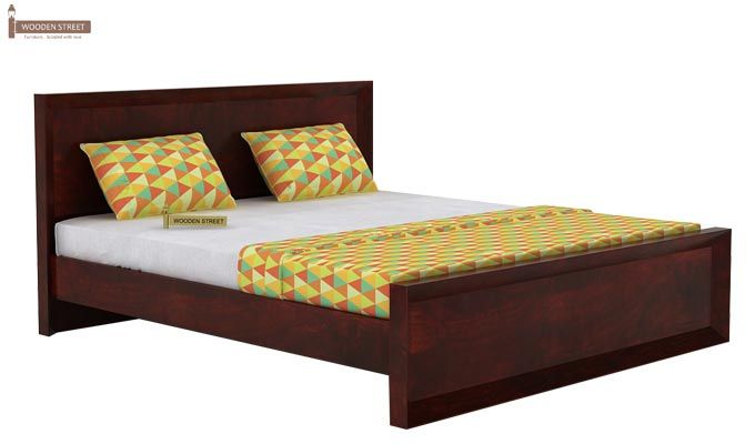 Carvel Bed Without Storage (King Size, Mahogany Finish)-3