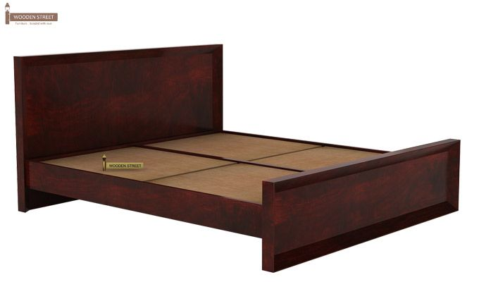 Carvel Bed Without Storage (King Size, Mahogany Finish)-4