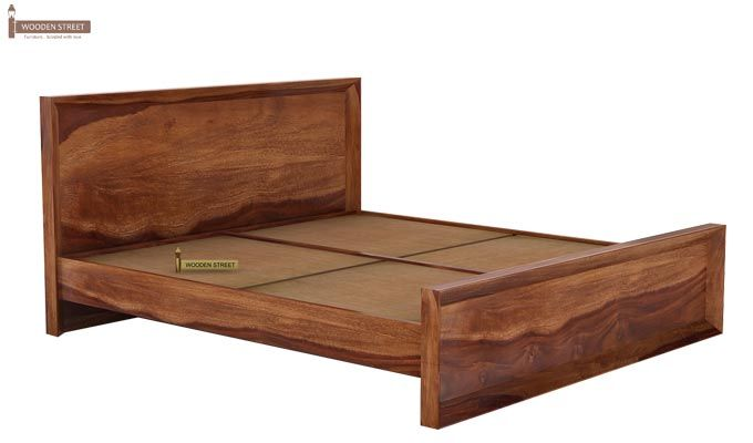 Carvel Bed Without Storage (King Size, Teak Finish)-4