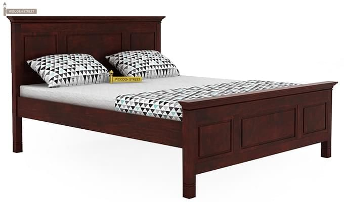 Charles Bed Without Storage (King Size, Mahogany Finish)-4