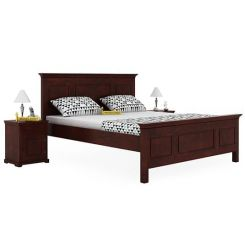 Charles Bed Without Storage (King Size, Mahogany Finish)