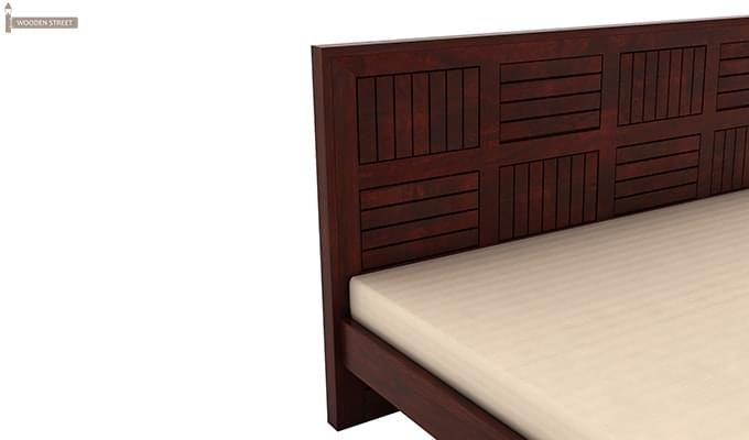 Claudia Bed Without Storage (Queen Size, Mahogany Finish)-6
