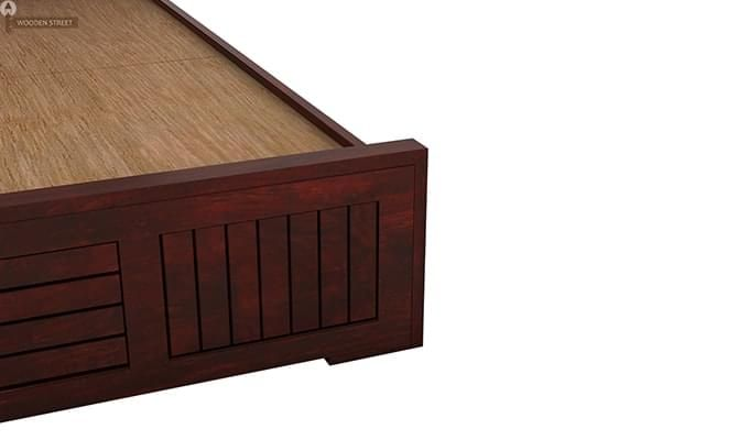 Claudia Bed Without Storage (Queen Size, Mahogany Finish)-7