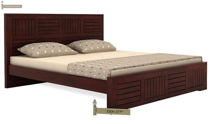 Claudia Bed Without Storage (King Size, Mahogany Finish)-3